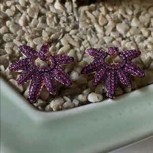 Vintage 925 ruby earrings